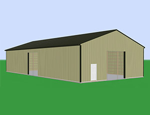 Large Most Popular Pole Barn Kit