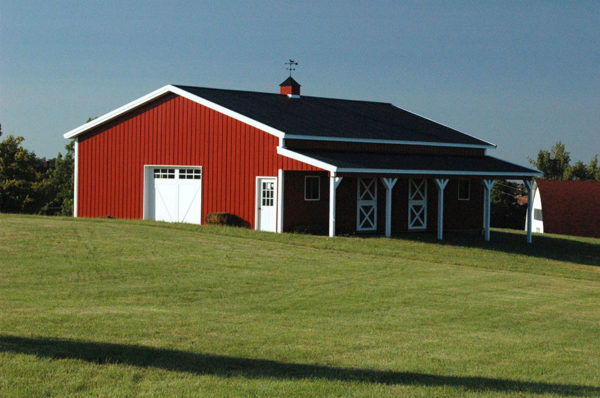 The origin of american pole barns diy pole barns for Modern pole barn